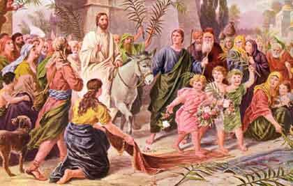 耶穌以君王的身份進耶路撒冷