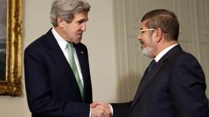 國務卿克里和埃及總統穆罕默德·穆爾西